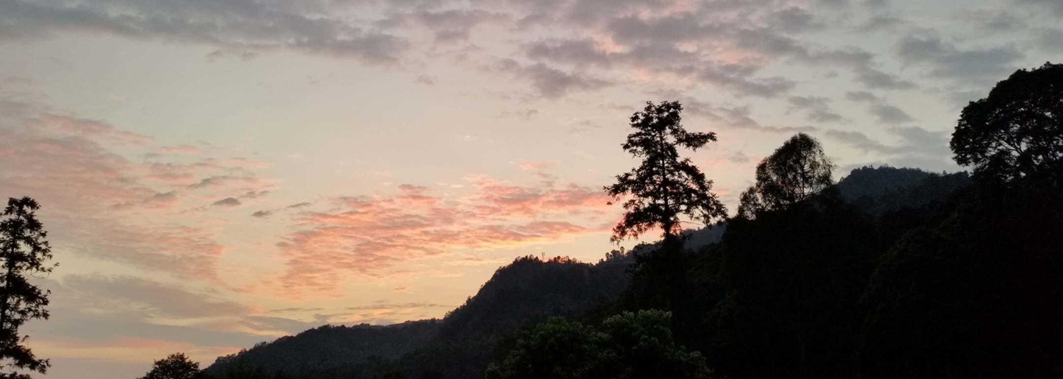 Spiritual Development at Sunrise at Emei Mountain